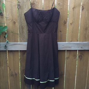 Ruby Rox Dark Brown Spotted Size 13 Dress